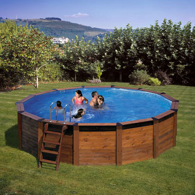Piscina in legno GRE Hawaii tonda